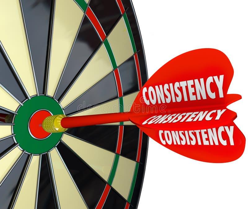 Dartboard van de consistentie het Betrouwbare Betrouwbare Perfecte Score vector illustratie