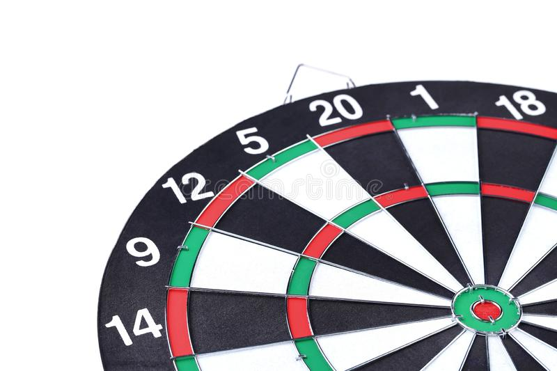 Dartboard. On a white background royalty free stock photo