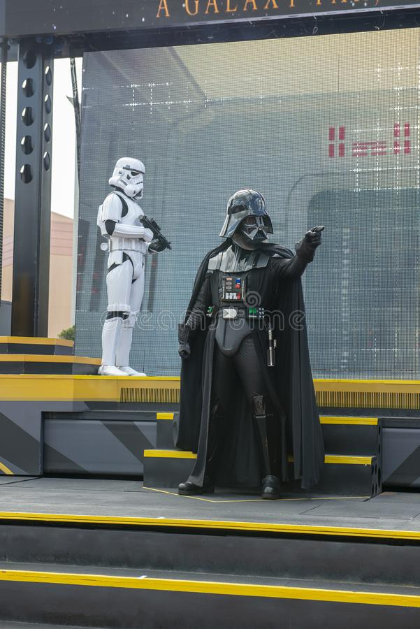 Darth Vader, Disney World, Star Wars, Reis stock afbeeldingen