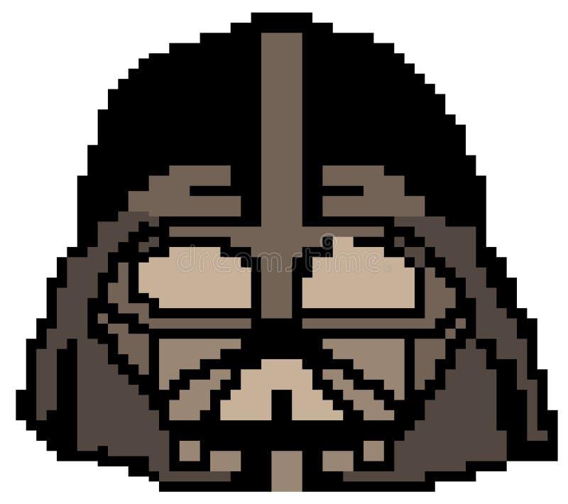Darth Vader gezeichnet in Pixel lizenzfreie abbildung
