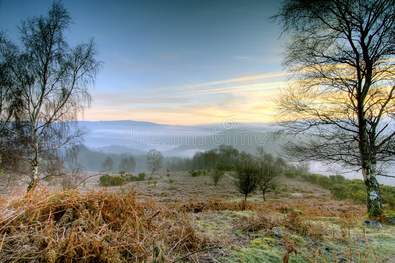 dartmoor日出 图库摄影
