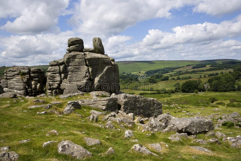 Dartmoor сценарное стоковые фотографии rf