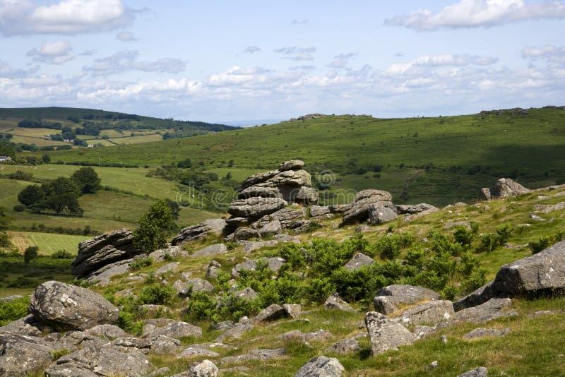Dartmoor escénico imagenes de archivo