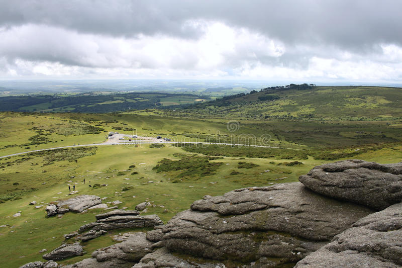 Dartmoor landskap 1 arkivbild