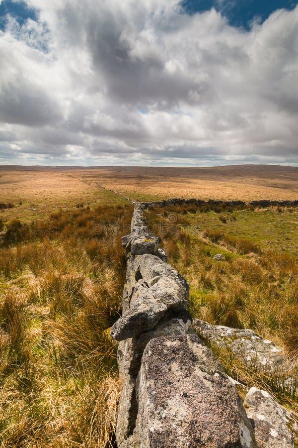 Dartmoor National Park. Big skies over Dartmoor National Park royalty free stock photo