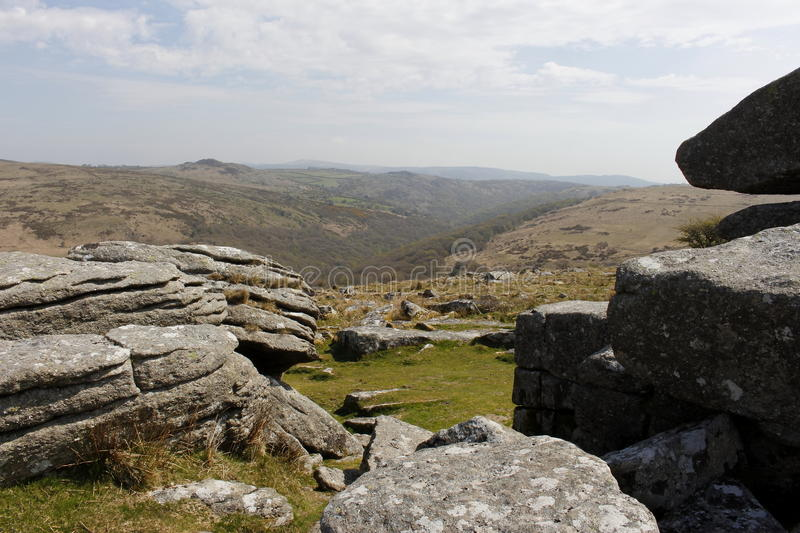 Dartmoor National Park Devon Combestone Tor. Of dartmoor in devon royalty free stock image