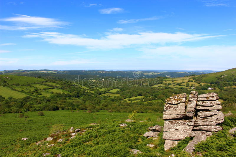Dartmoor national park landscape countryside royalty free stock photo