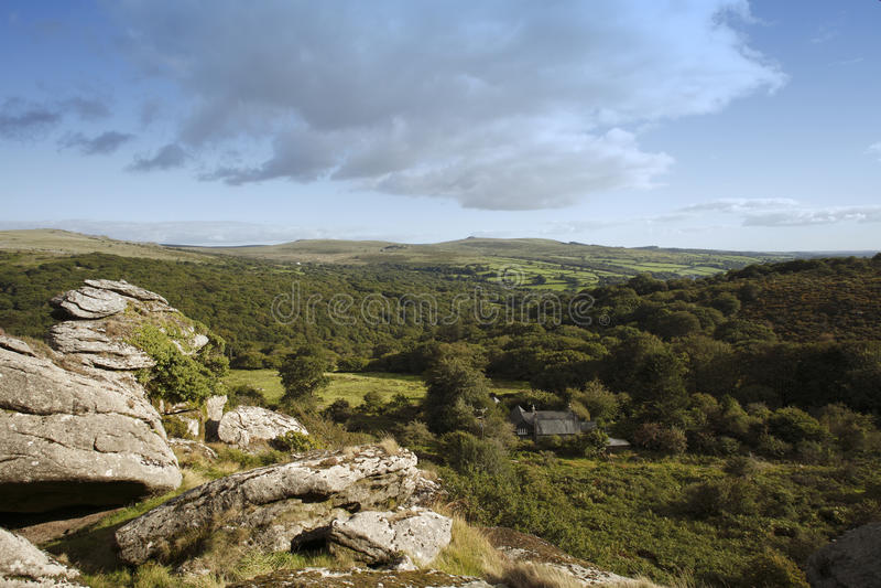 Dartmoor national park merrivale and vixen tor. Vixen tor on Dartmoor national park royalty free stock photos