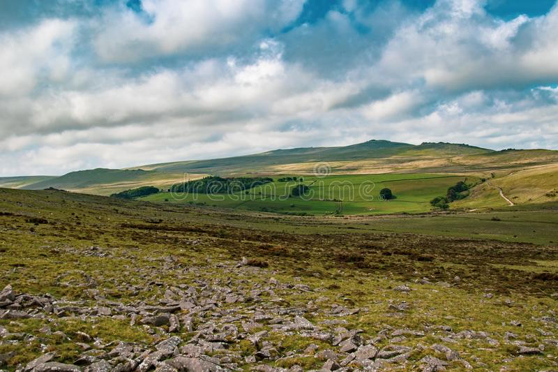 Dartmoor nationalpark arkivbild