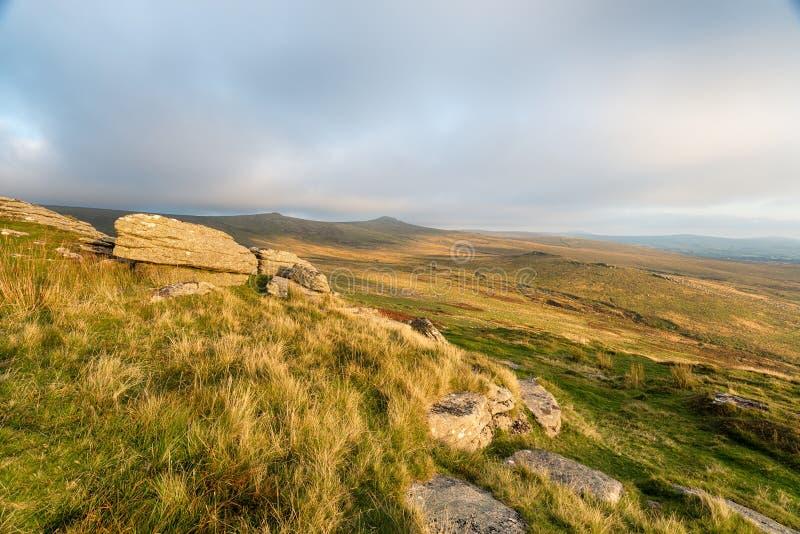 Dartmoor od basałyka Tor zdjęcia royalty free