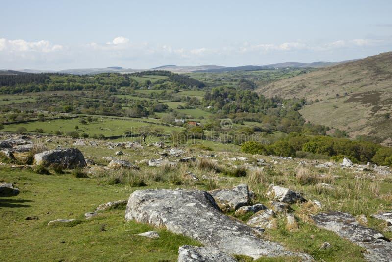 Dartmoor. Rugged Dartmoor National Park Devon England royalty free stock image