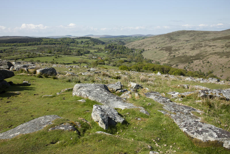 Dartmoor. Rugged Dartmoor National Park Devon England royalty free stock photos