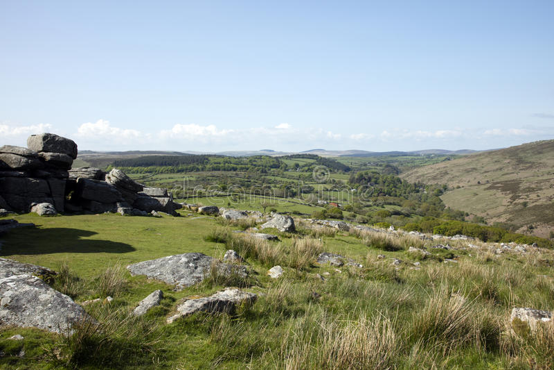 Dartmoor. Rugged Dartmoor National Park Devon England stock image