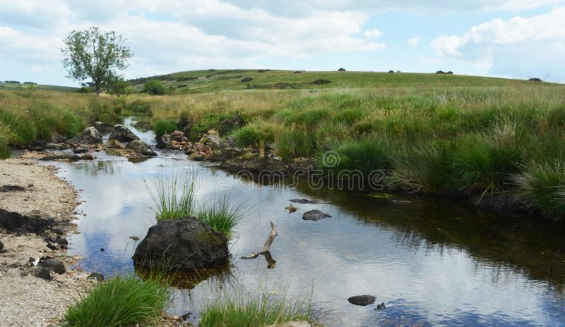 Dartmoor stream stock image