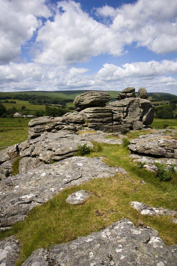 Dartmoor toneel royalty-vrije stock afbeelding