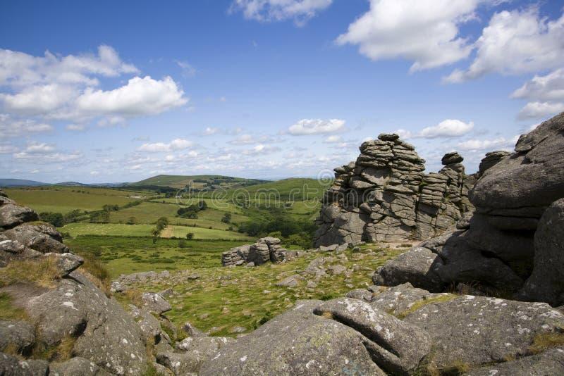 Dartmoor toneel royalty-vrije stock afbeeldingen