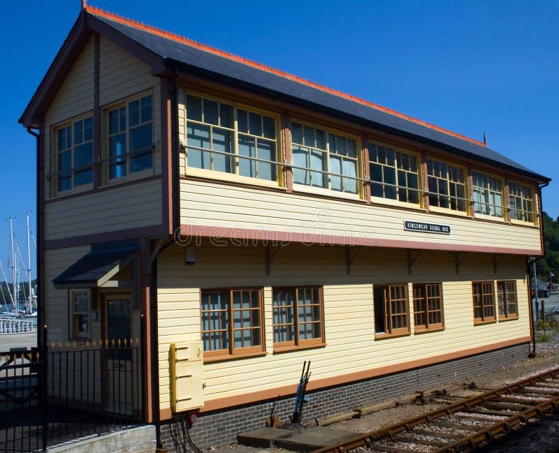 Dartmouth konservierte Bahnhof stockbild