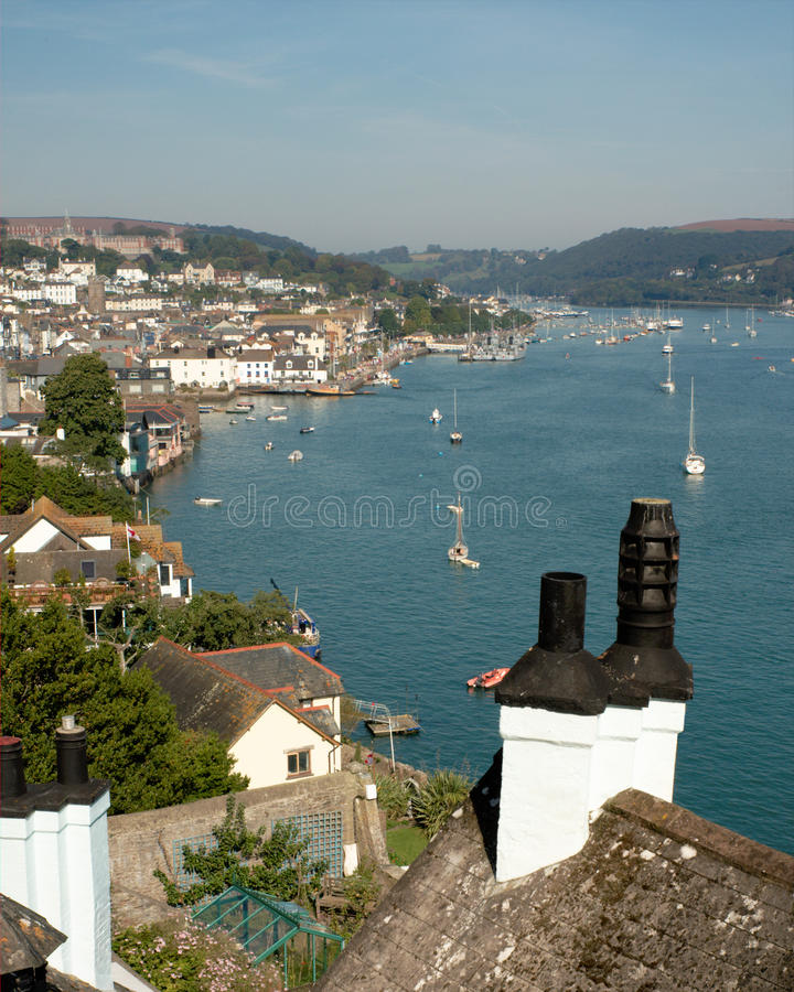 Dartmouth And River Dart In Devon, England Royalty Free Stock Photos