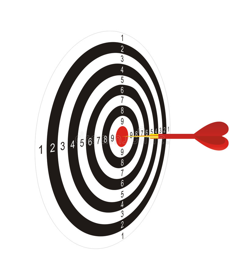 Download Darts with an arrow 2 stock illustration. Illustration of sharp - 2616211