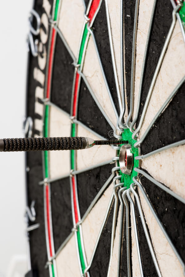 Darts. Arrow in professional target royalty free stock photography
