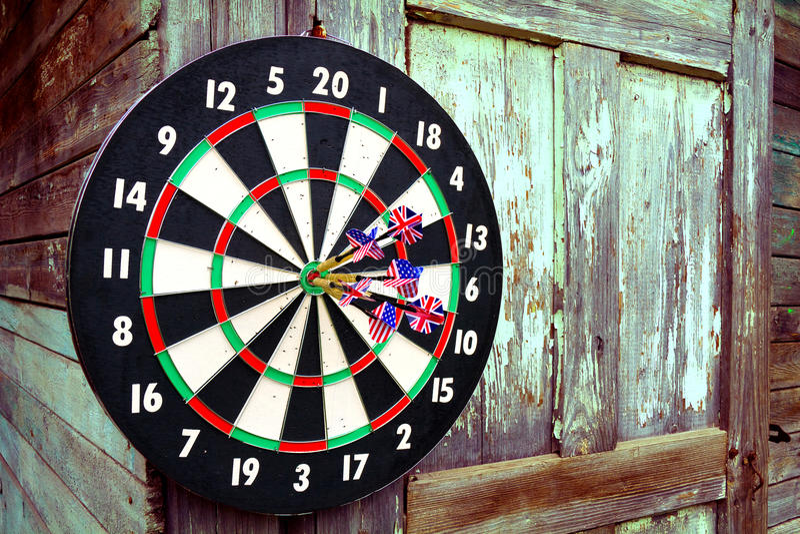 Darts With Arrows Royalty Free Stock Photos