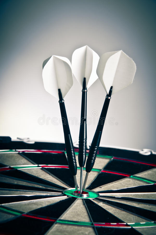 Download Darts Arrows Right In The Center Stock Photo - Image: 17173458