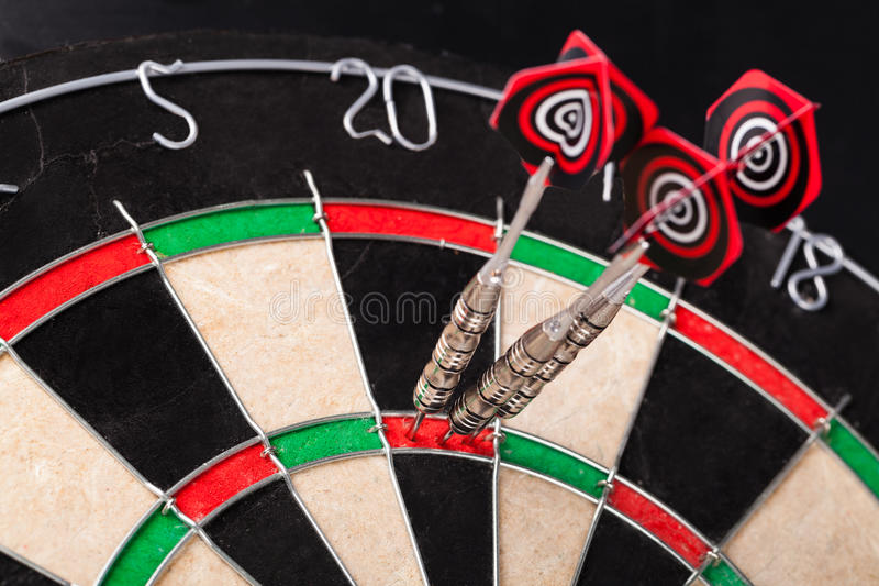 Darts. Arrows in the target royalty free stock images