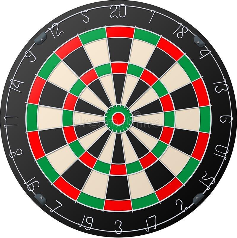 Darts board royalty free illustration