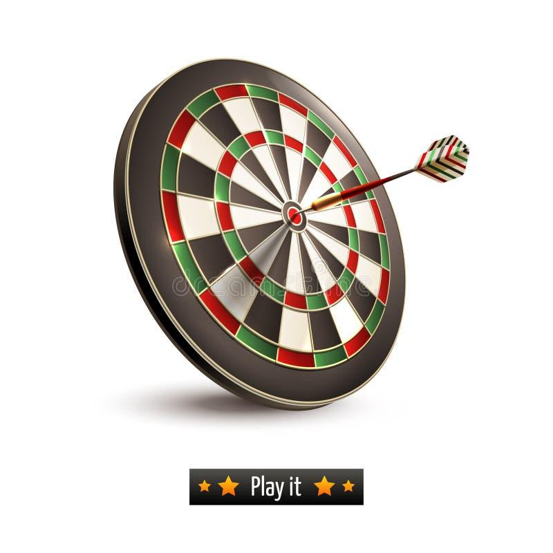Darts board isolated stock illustration