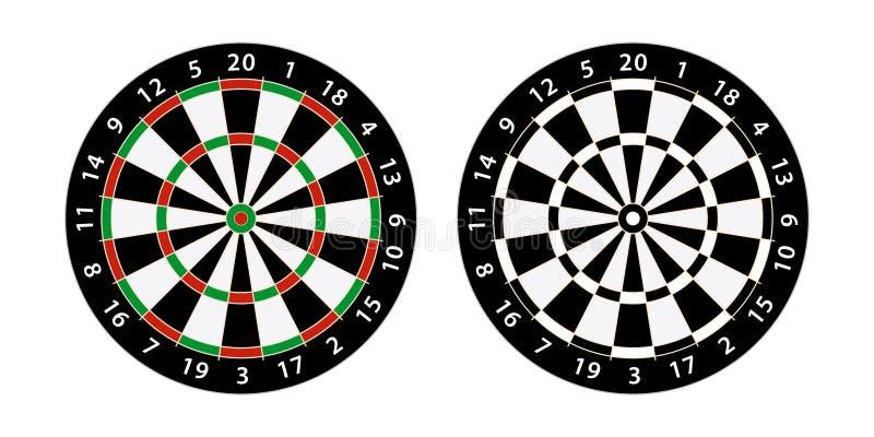 Darts board target stock illustration