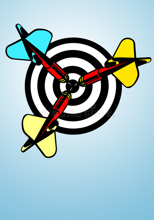 Darts bullseye stock illustration. Image of abstract ...