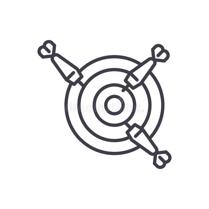 Darts competition black icon concept. Darts competition flat vector symbol, sign, illustration. vector illustration