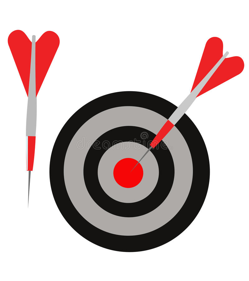 Download Darts stock vector. Illustration of hitting, competition - 30041770