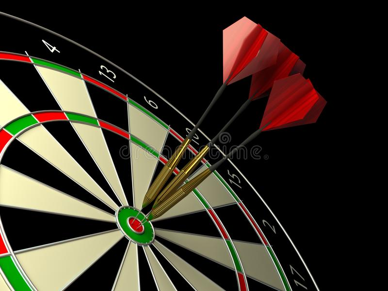 Download Darts game stock illustration. Image of efficiency, nobody - 14474453