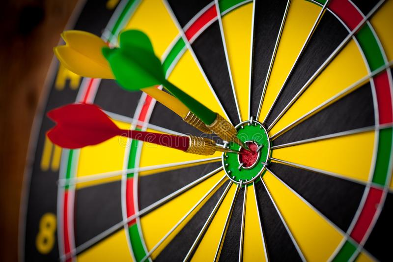 Darts game - concept. Close up stock images