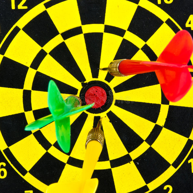 Download Darts miss the target. stock photo. Image of yellow, accuracy - 21171998