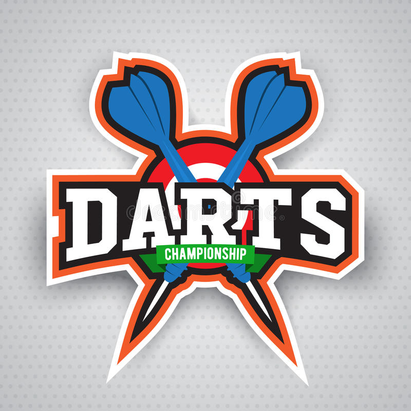 darts porting logo and leisure design stock vector illustration