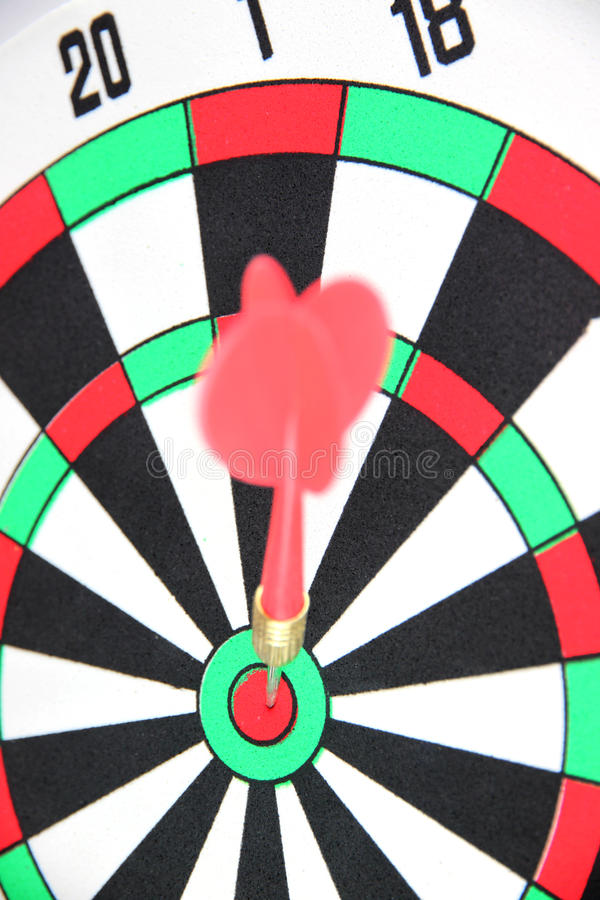 Darts on Target. Red Darts on Target royalty free stock photo