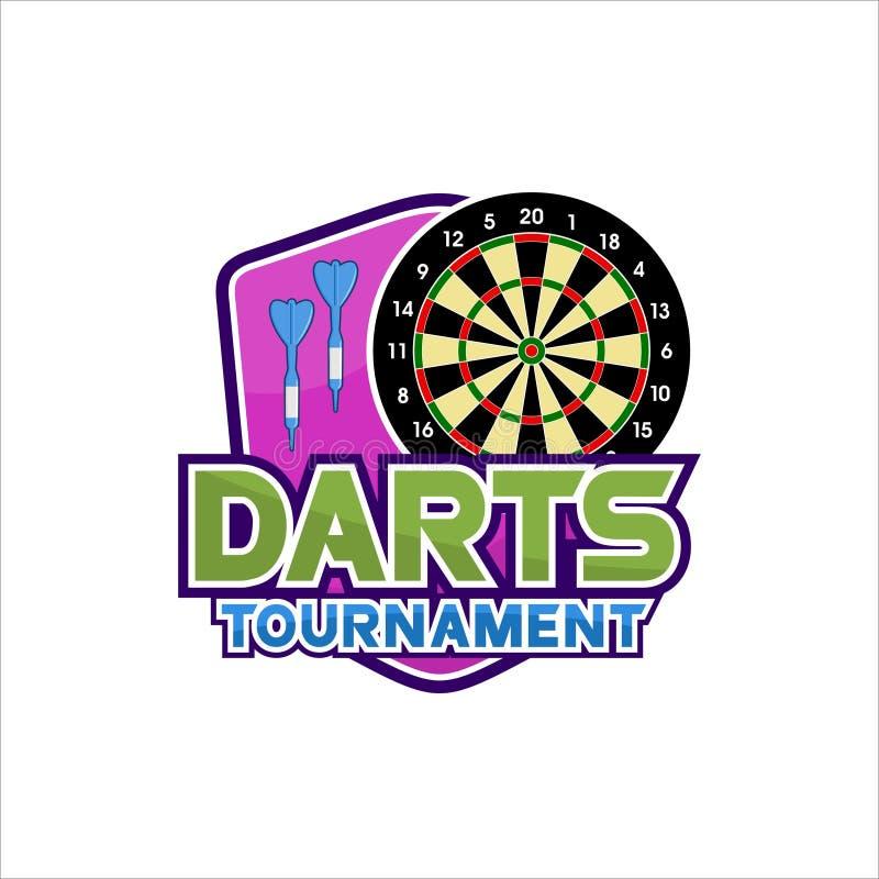 Free Darts Tournament Vector Design Logos Royalty Free Stock Photo - 160876865