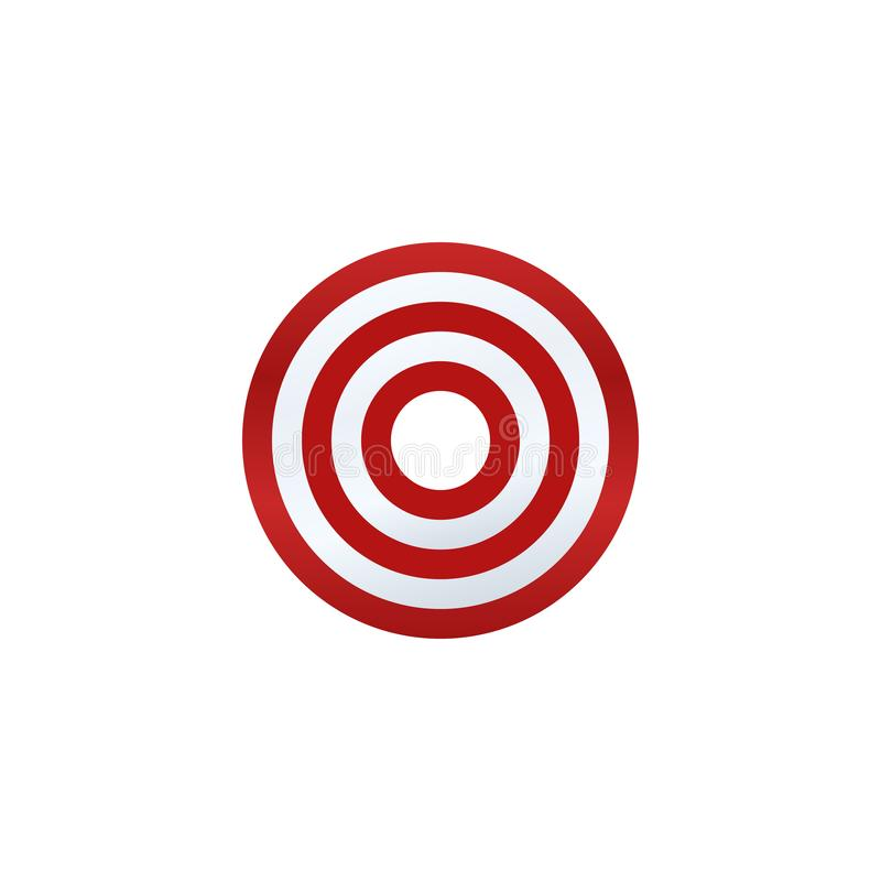 Darttavlasymbol royaltyfri illustrationer