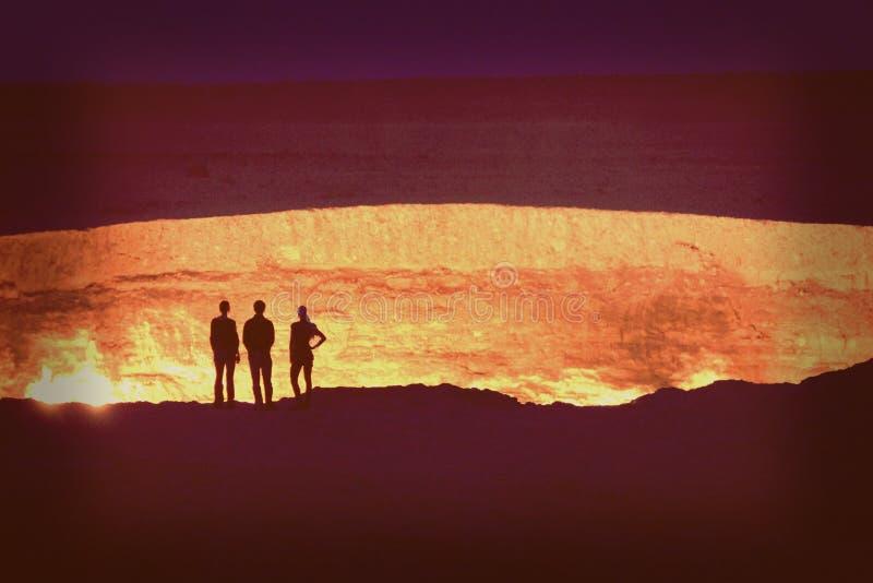 Darvaza (ou Derweze) - Turkmenistan stock photography