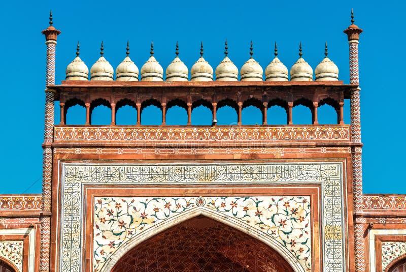 Darwaza I Rauza, das große Tor von Taj Mahal - Agra, Indien stockbild