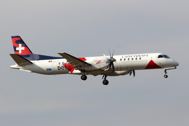 Darwin Airline zdjęcia royalty free