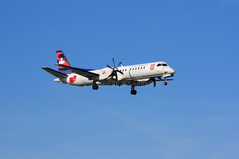 Darwin Airline Saab 2000 images stock