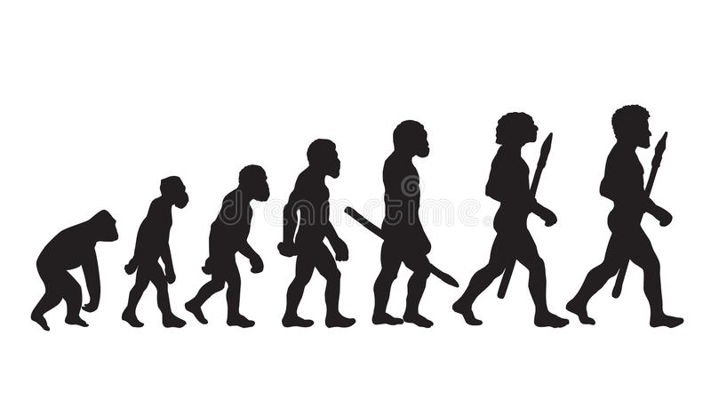 Darwin Evolution Theory Darwin Evolution Definition Darwin Evolution Of Man illustration stock