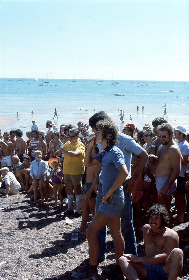 1976 Darwin, N T l'australie Régate de canette de bière image libre de droits