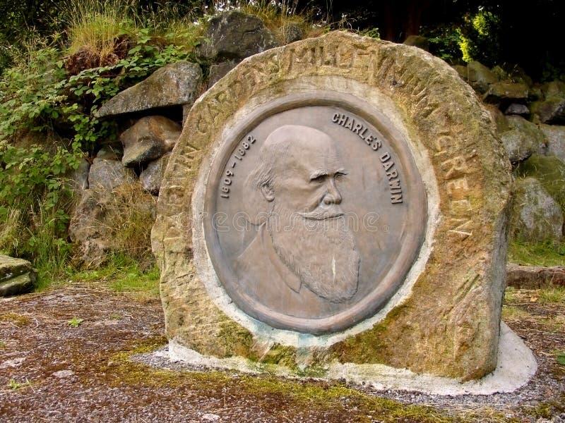 Download Charles Darwin Monument, Darwin Gardens Millennium Stock Image - Image: 503813