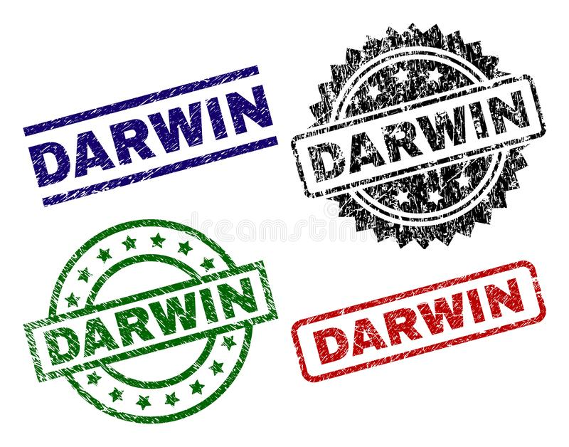 DARWIN Seal Stamps texturisé rayé illustration stock