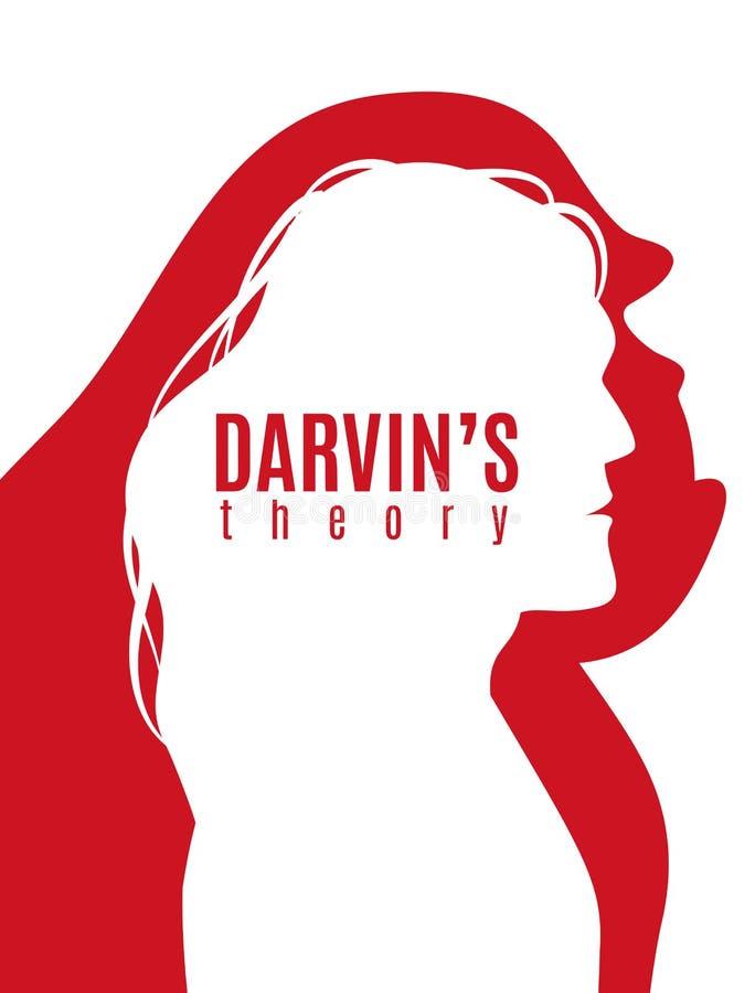 Darwin Theory Poster royalty-vrije illustratie