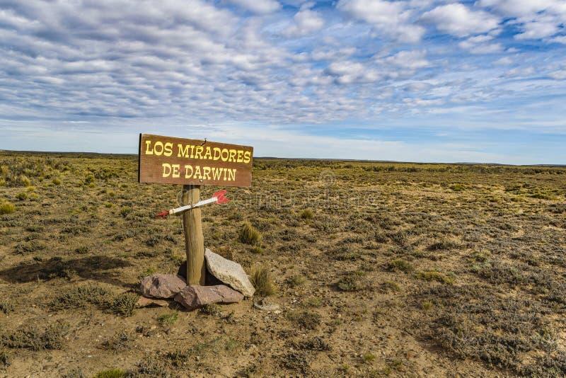 Darwin Viewpoint, Santa Cruz Argentina photos libres de droits